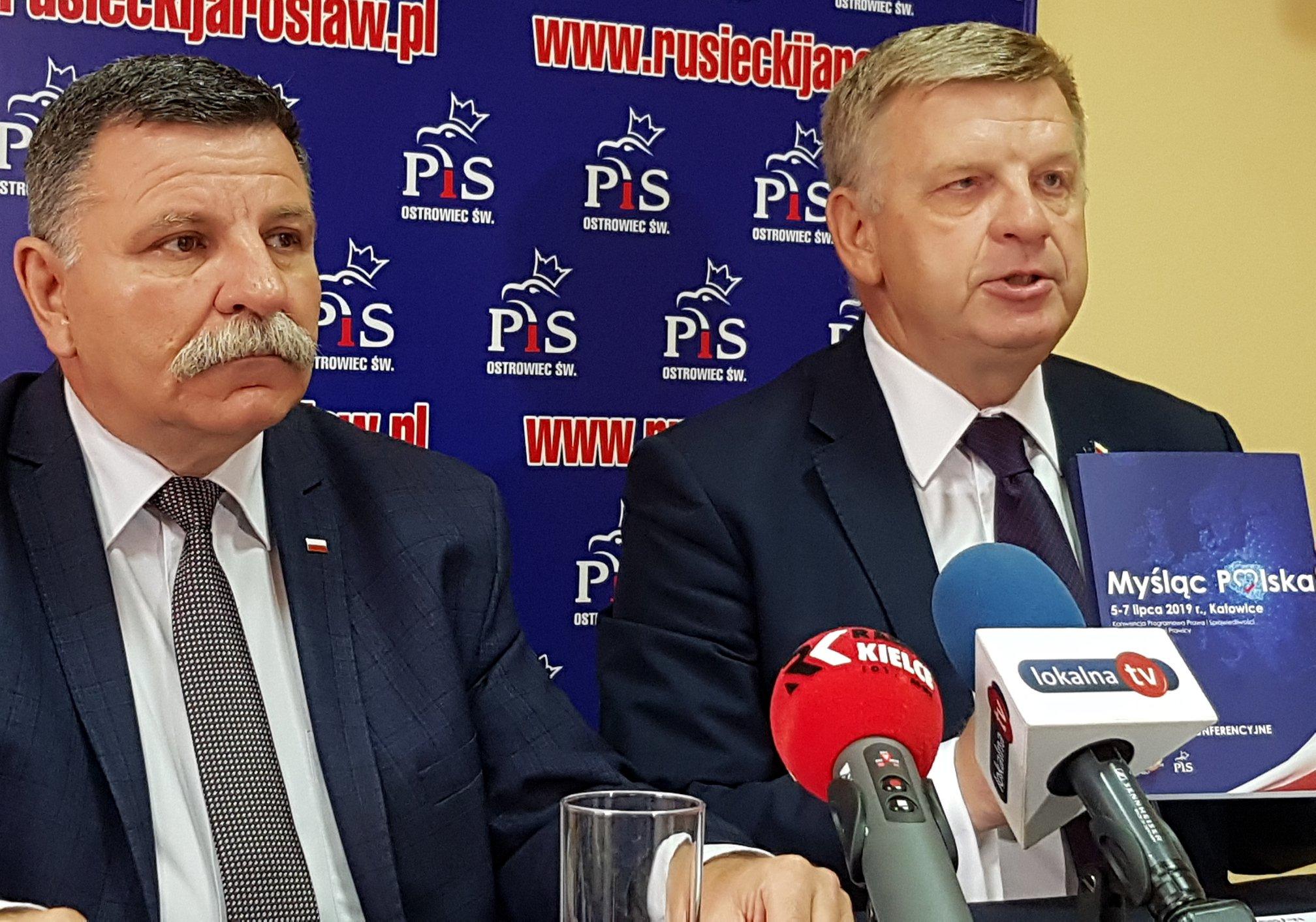Senator Jarosław Rusiecki i Poseł Andrzej Kryj