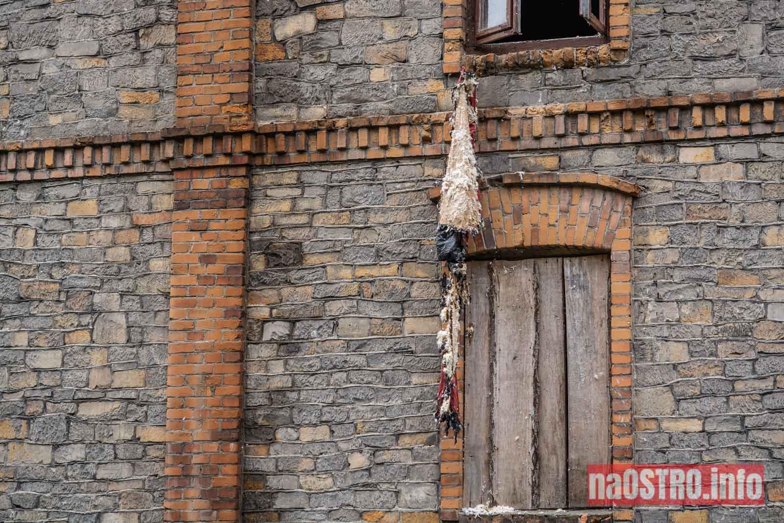 NaOSTROinfo Pożar kamienicy przy Osadowej-3