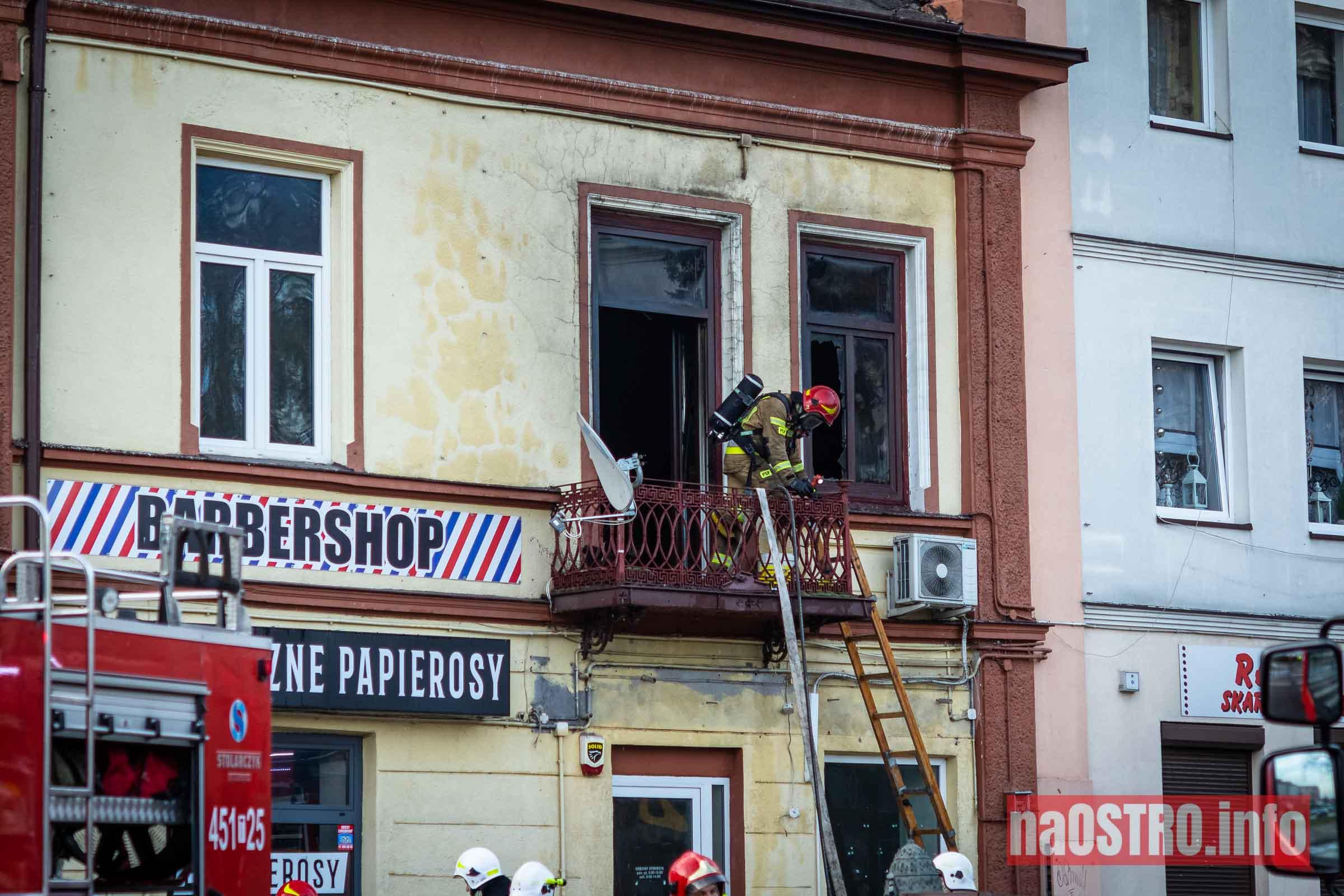 NaOSTROinfo Pożar ul Młyńska-18