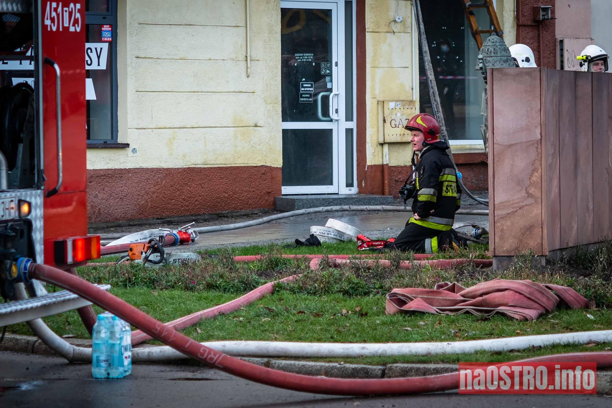 NaOSTROinfo Pożar ul Młyńska-21